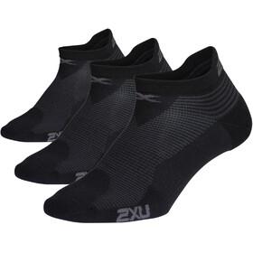 2XU Ankle Socks 3 Pieces Men, black
